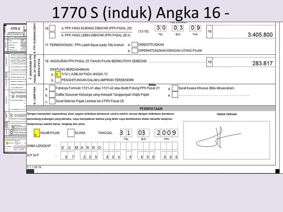 1770 S (induk) Angka 16 - 3 1 03 2 0 0 9