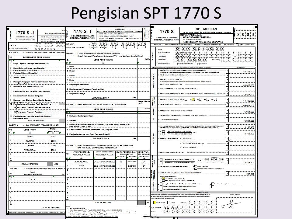 Pengisian SPT 1770 S