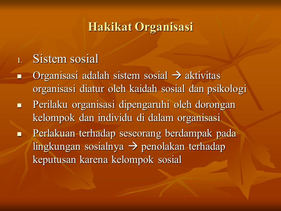 Hakikat Organisasi Sistem sosial