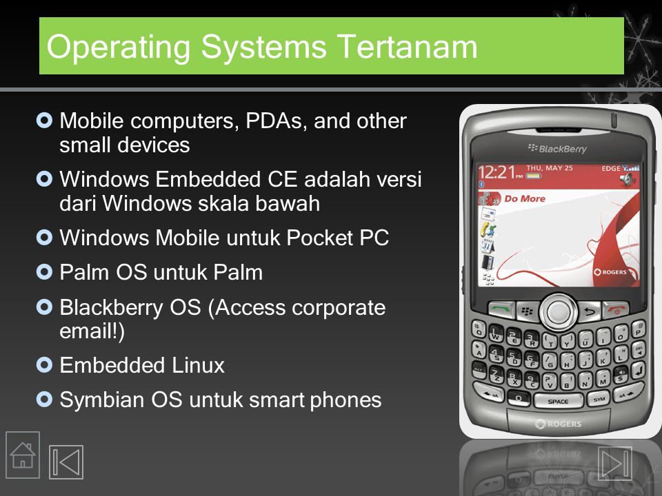 Operating Systems Tertanam