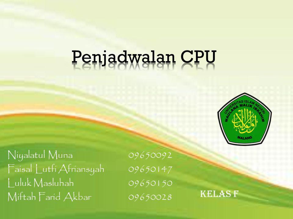 Penjadwalan CPU Niyalatul Muna 09650092