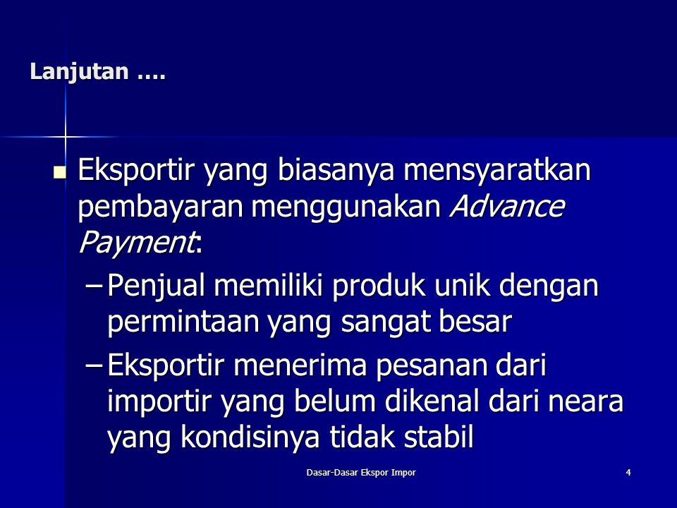 Dasar-Dasar Ekspor Impor