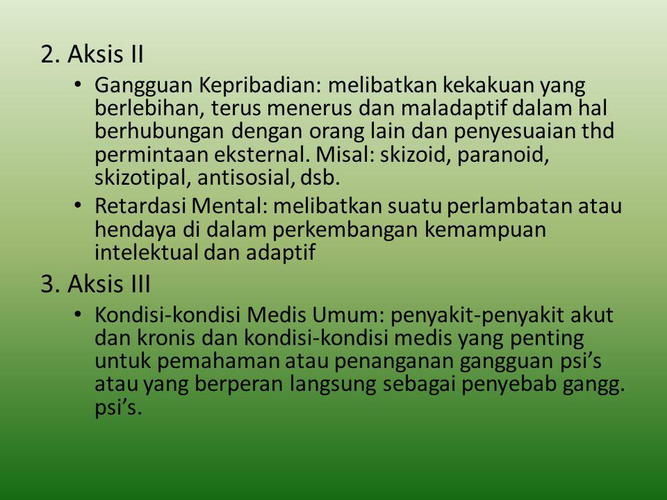 2. Aksis II