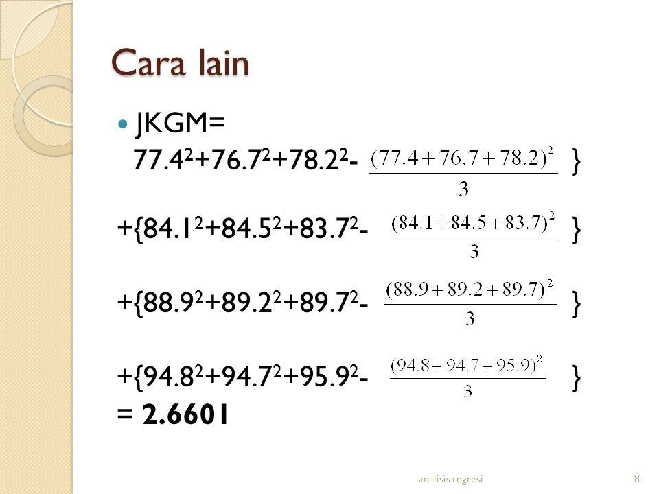 Cara lain JKGM= 77.42+76.72+78.22- } +{84.12+84.52+83.72- }