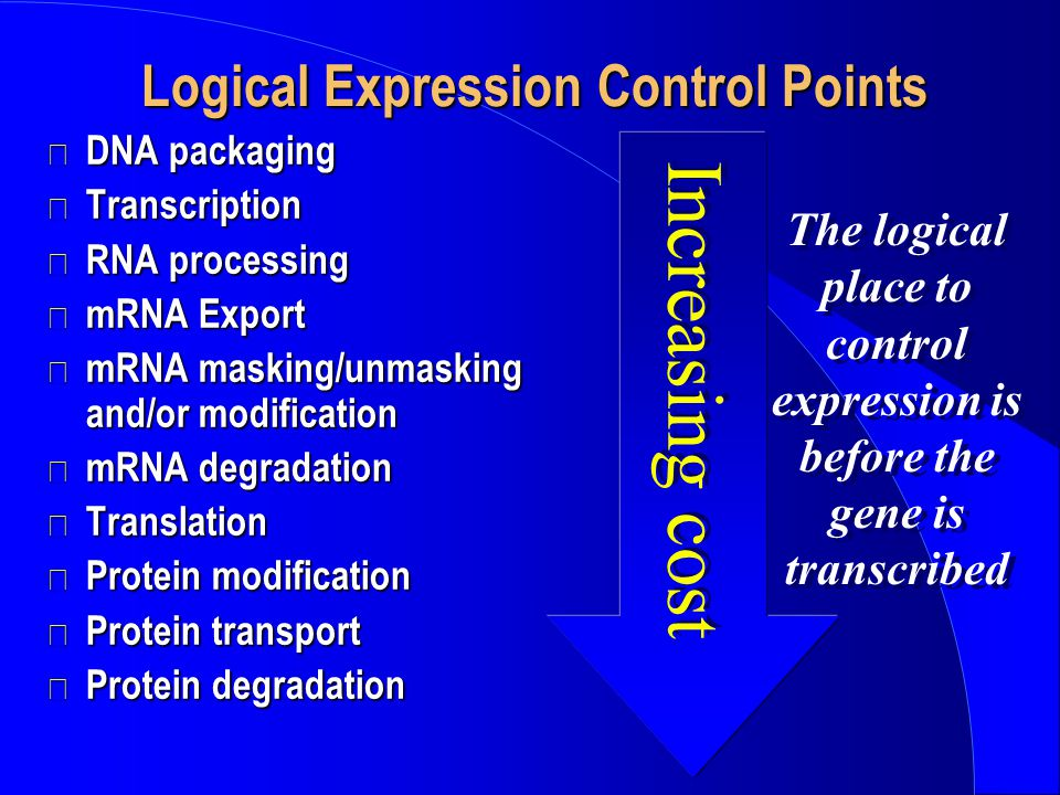 Logical Expression Control Points