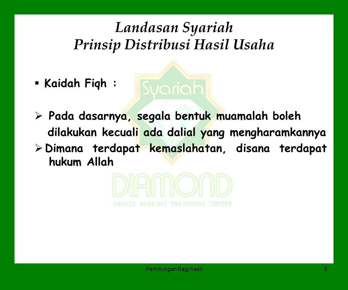 Landasan Syariah Prinsip Distribusi Hasil Usaha