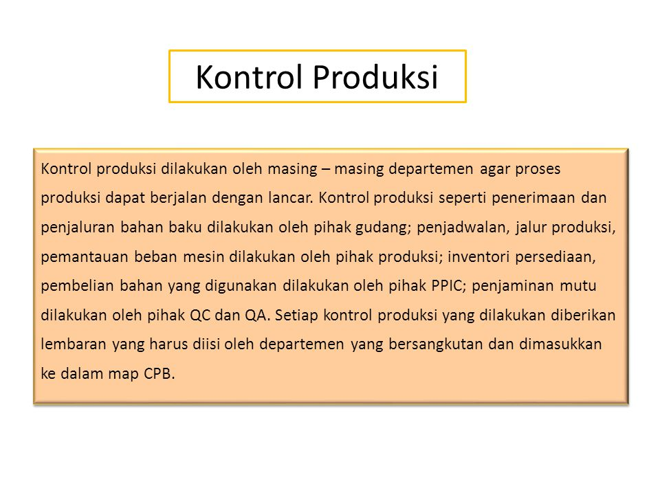 Kontrol Produksi