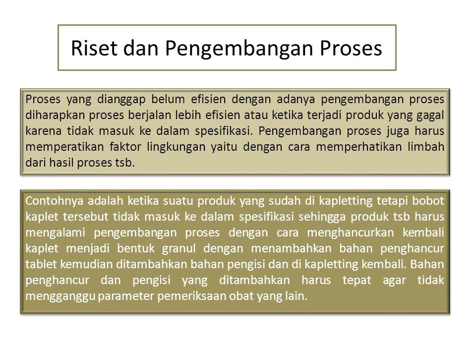 Riset dan Pengembangan Proses