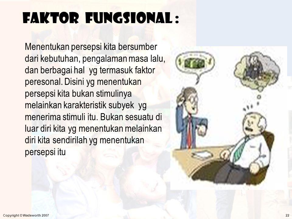 Faktor fungsional :