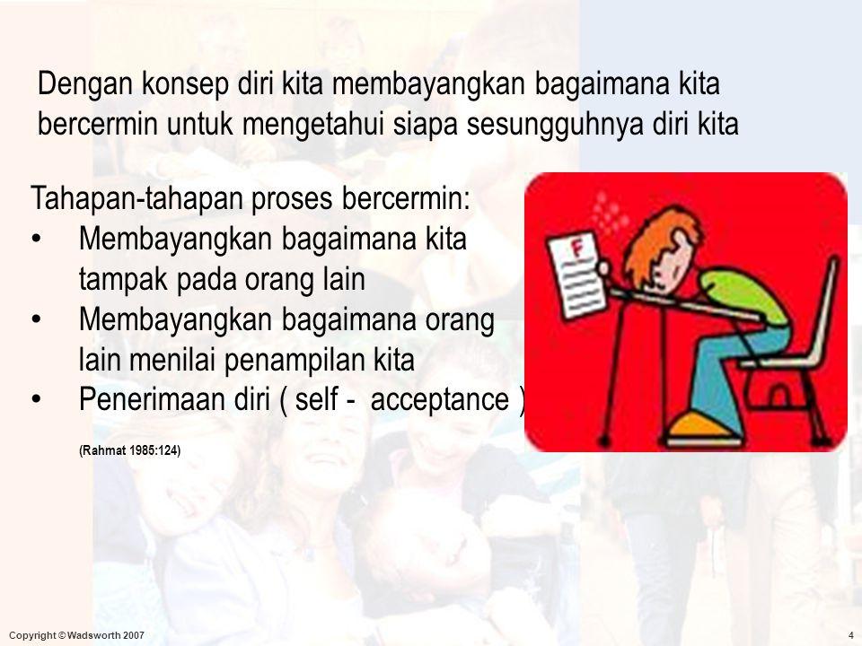 Dengan konsep diri kita membayangkan bagaimana kita bercermin untuk mengetahui siapa sesungguhnya diri kita
