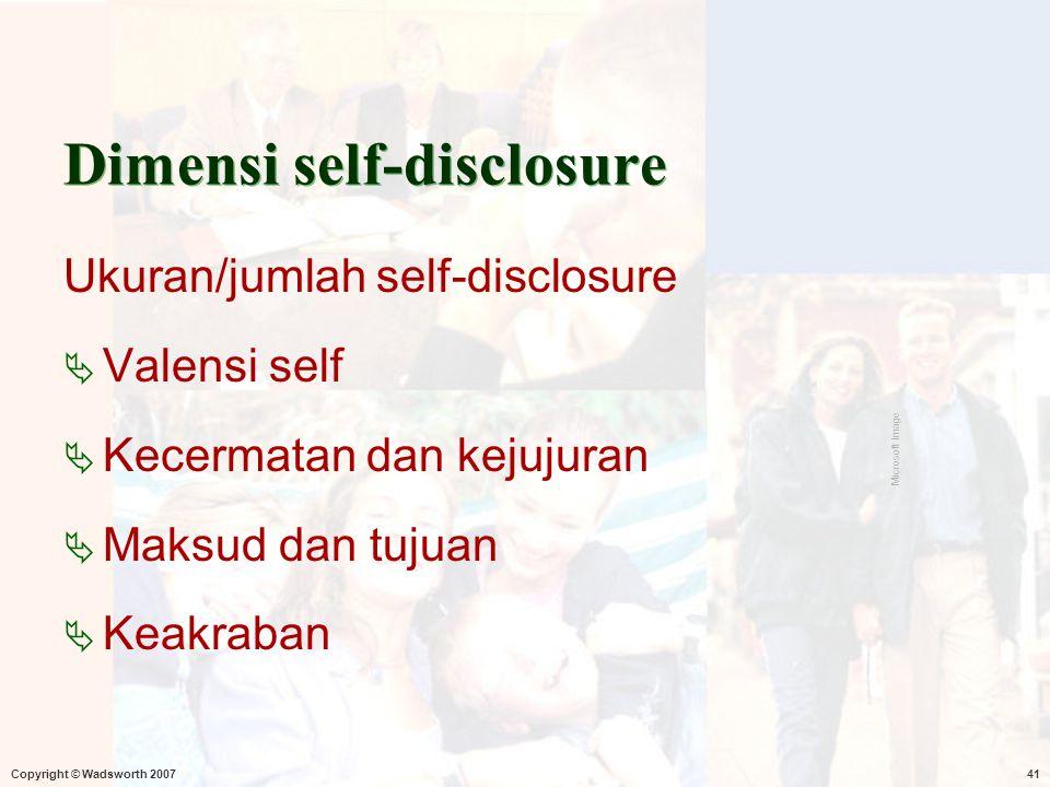 Dimensi self-disclosure