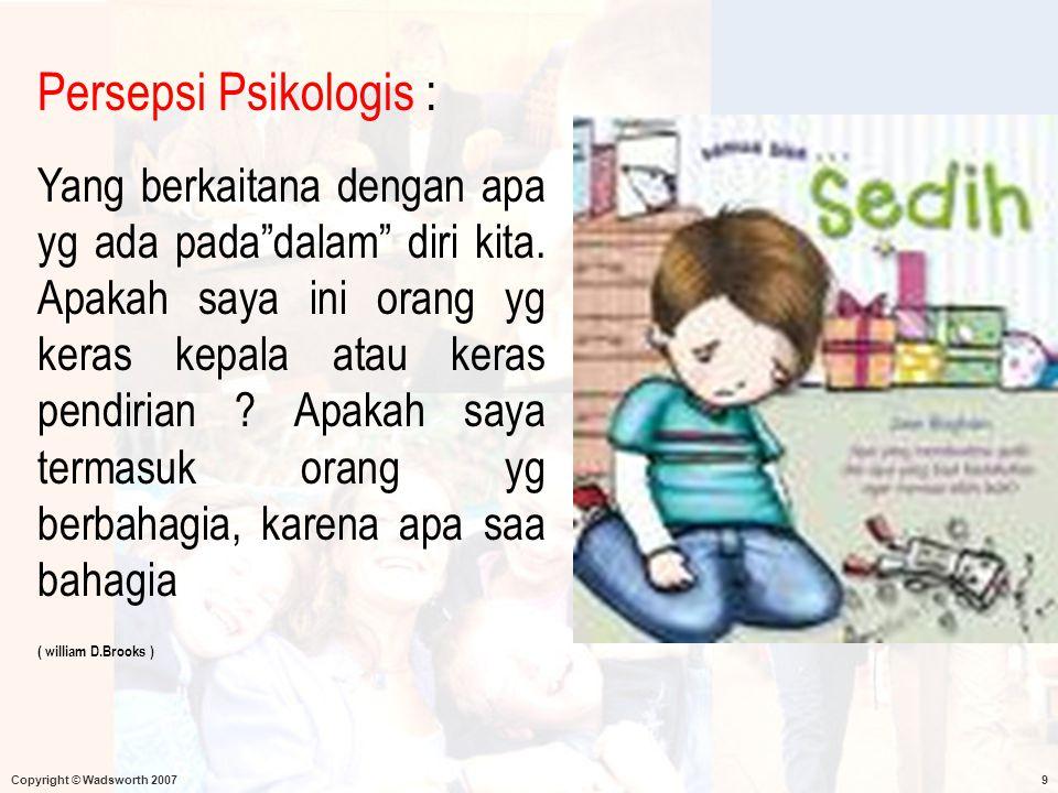 Persepsi Psikologis :