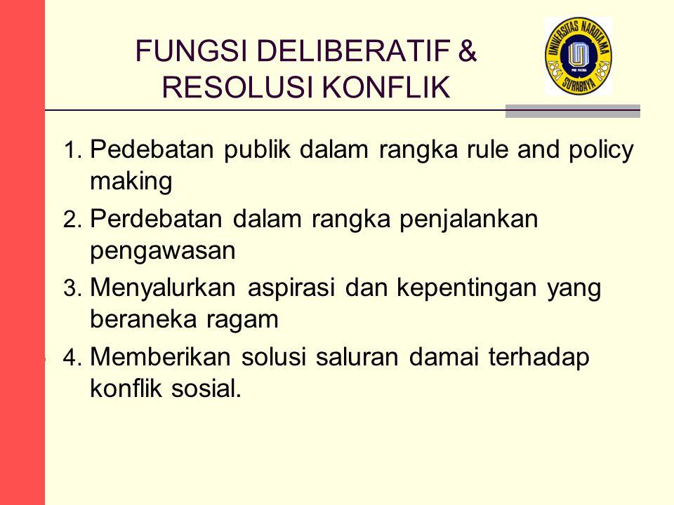 FUNGSI DELIBERATIF & RESOLUSI KONFLIK