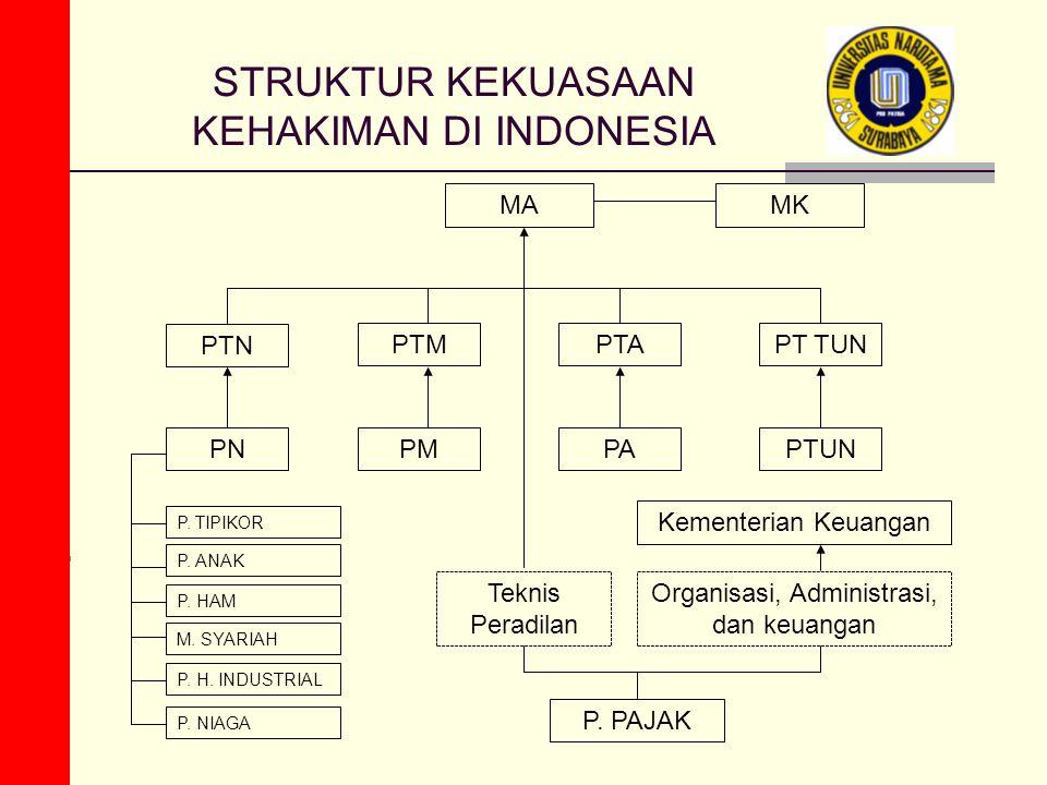 STRUKTUR KEKUASAAN KEHAKIMAN DI INDONESIA