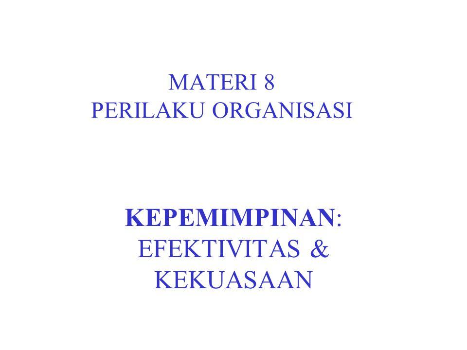 MATERI 8 PERILAKU ORGANISASI