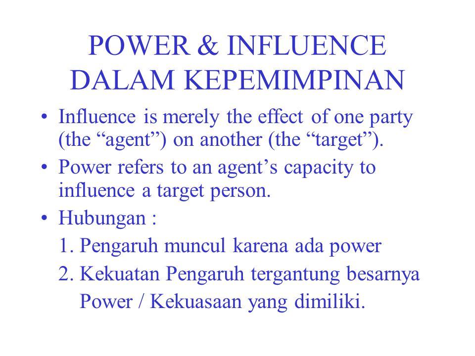 POWER & INFLUENCE DALAM KEPEMIMPINAN