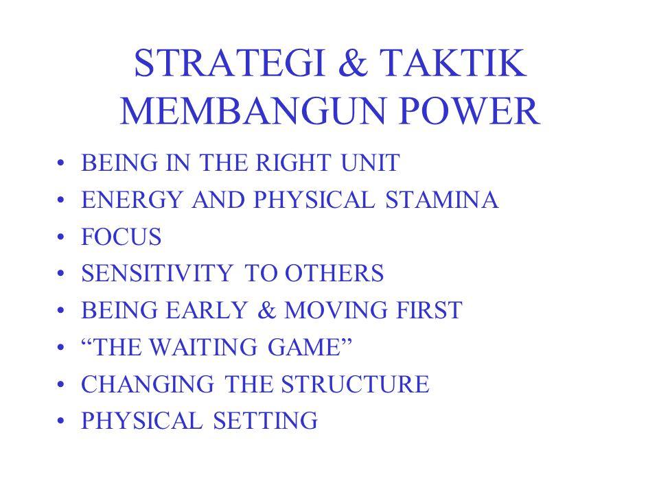 STRATEGI & TAKTIK MEMBANGUN POWER