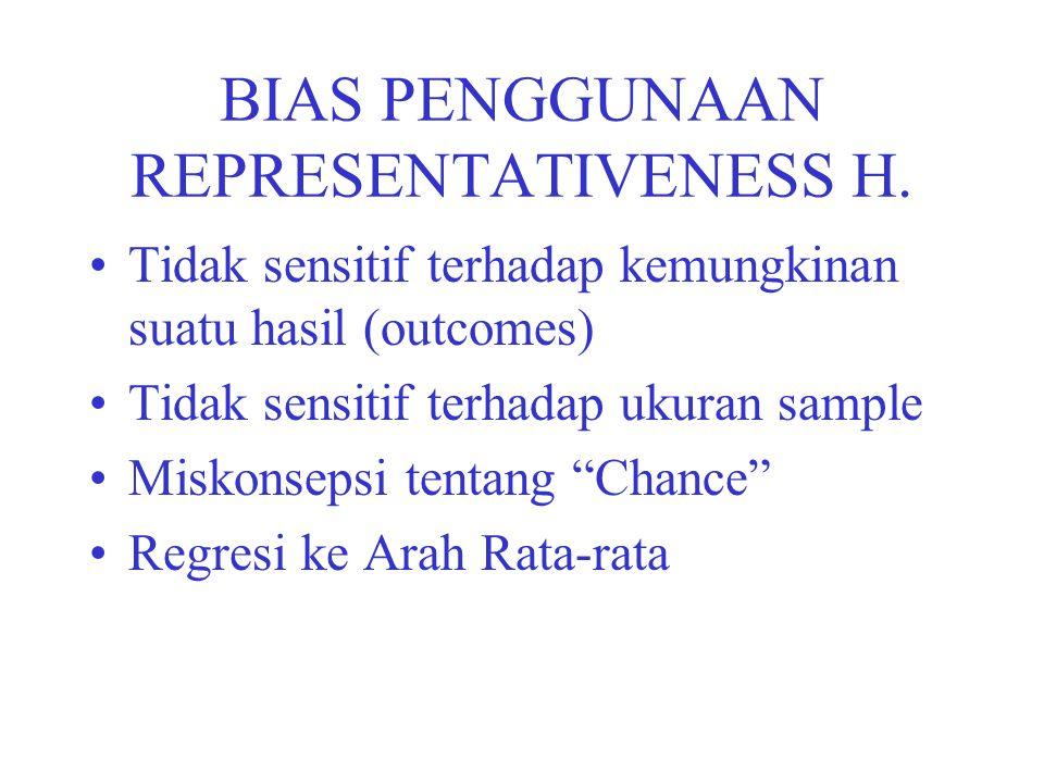 BIAS PENGGUNAAN REPRESENTATIVENESS H.