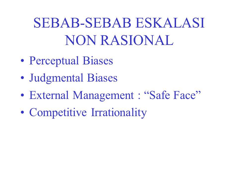 SEBAB-SEBAB ESKALASI NON RASIONAL