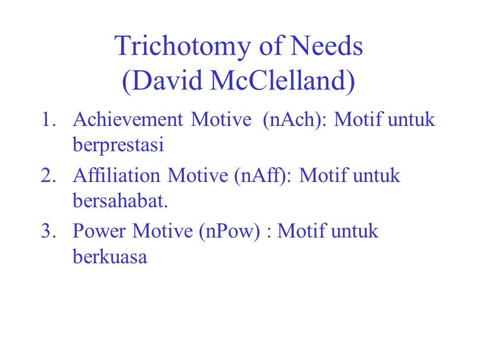 Trichotomy of Needs (David McClelland)
