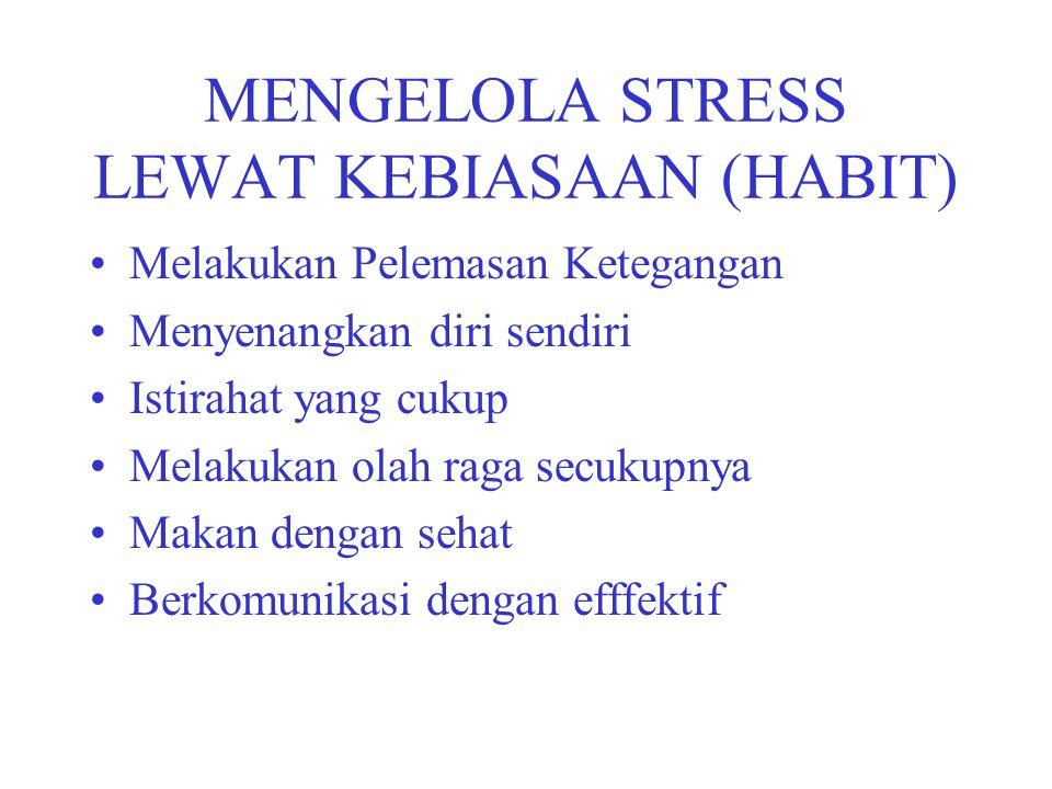 MENGELOLA STRESS LEWAT KEBIASAAN (HABIT)