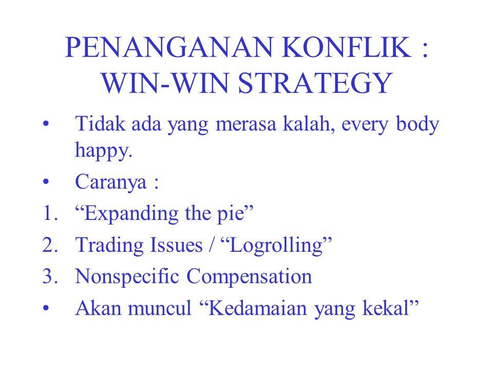 PENANGANAN KONFLIK : WIN-WIN STRATEGY