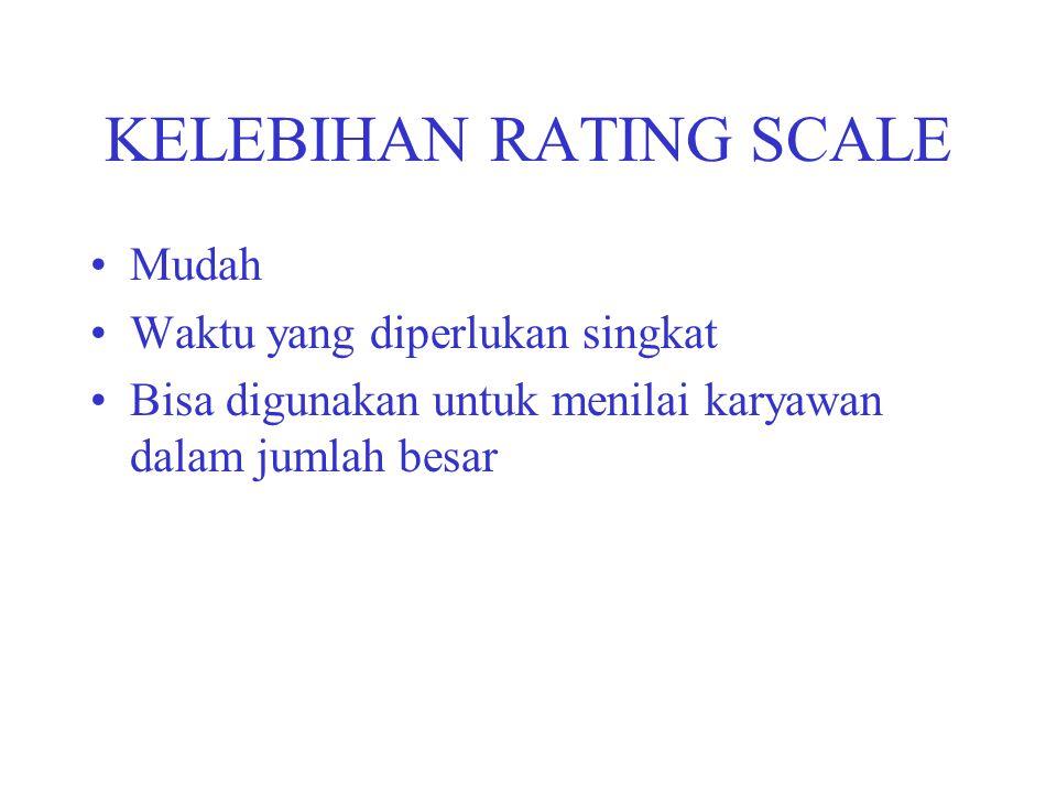 KELEBIHAN RATING SCALE