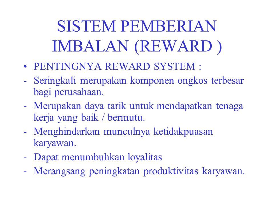 SISTEM PEMBERIAN IMBALAN (REWARD )
