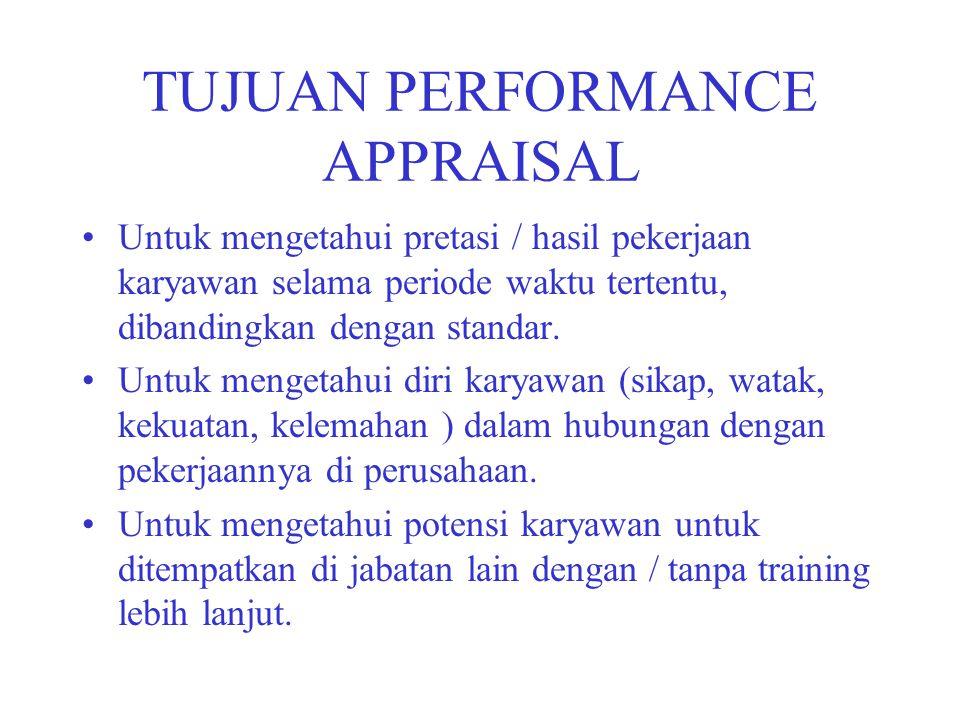 TUJUAN PERFORMANCE APPRAISAL