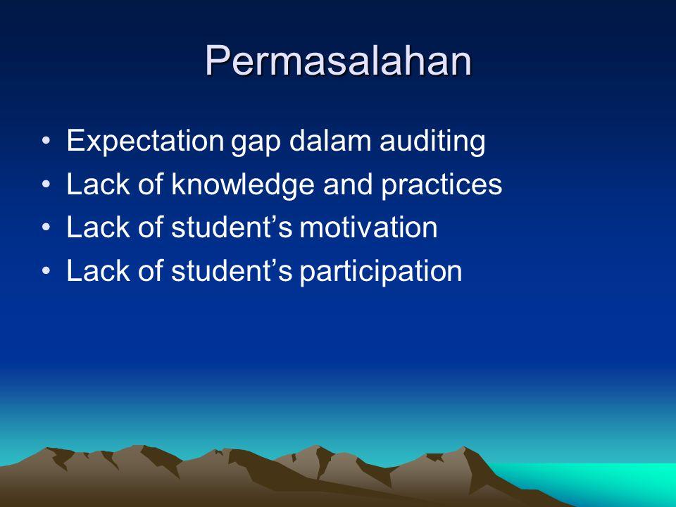 Permasalahan Expectation gap dalam auditing