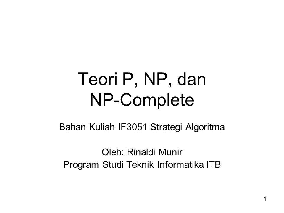 Teori P, NP, dan NP-Complete