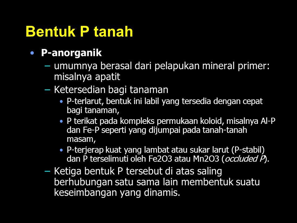 Bentuk P tanah P-anorganik