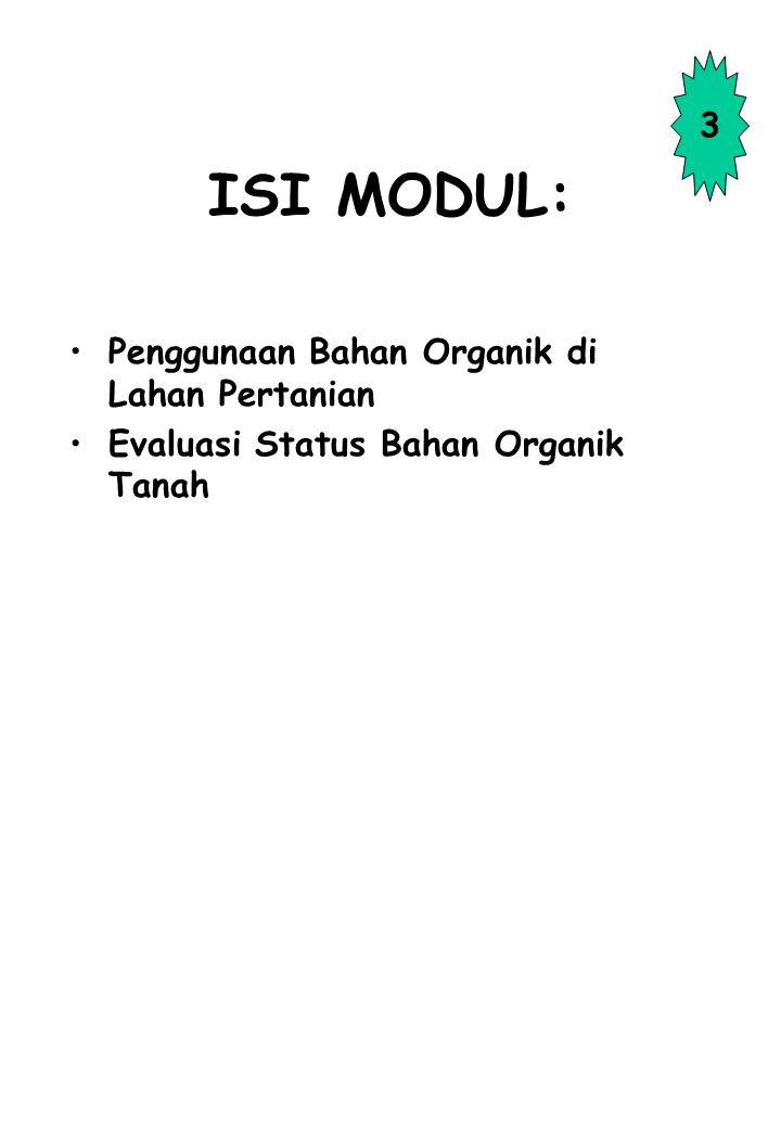 ISI MODUL: 3 Penggunaan Bahan Organik di Lahan Pertanian