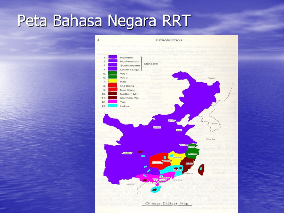 Peta Bahasa Negara RRT