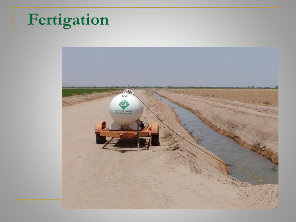 Fertigation
