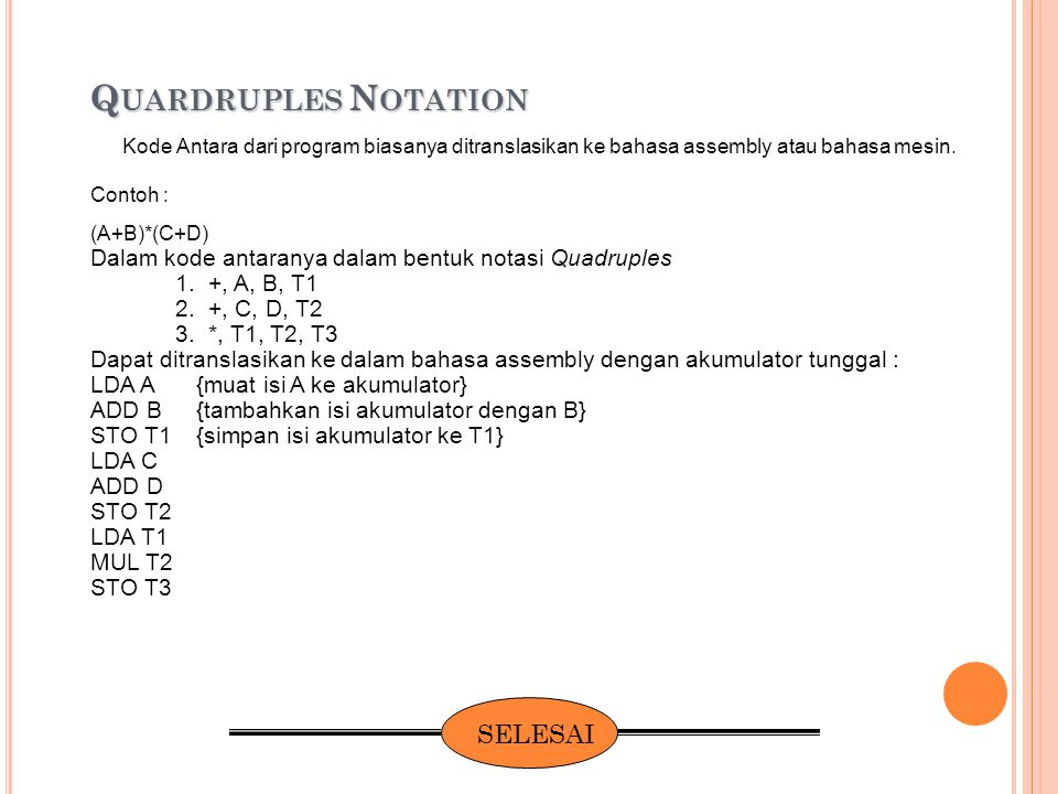 Quardruples Notation SELESAI