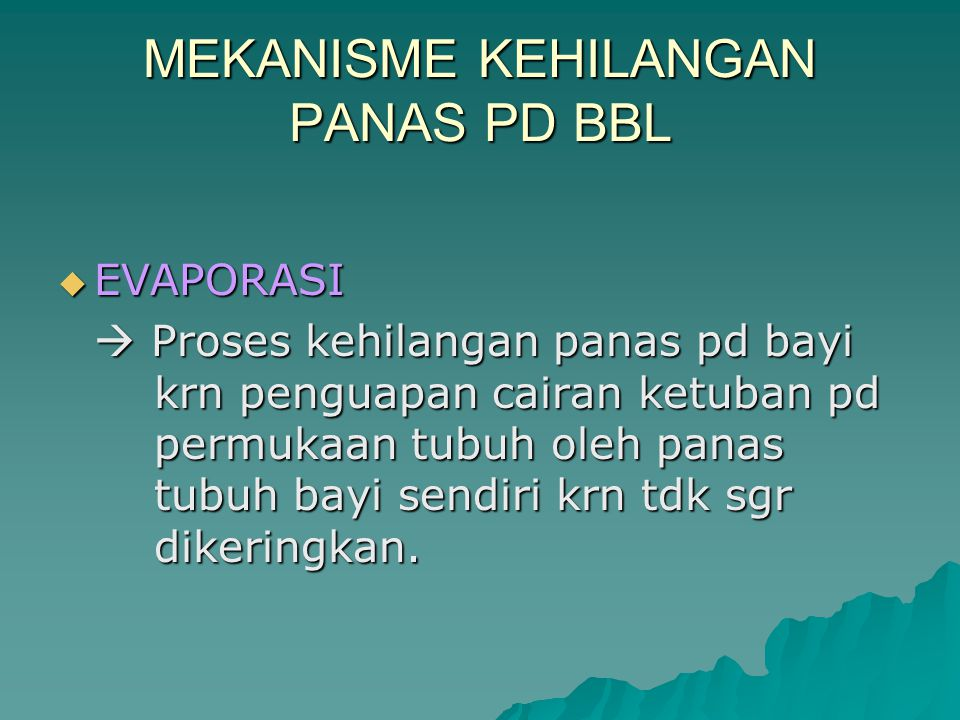 MEKANISME KEHILANGAN PANAS PD BBL