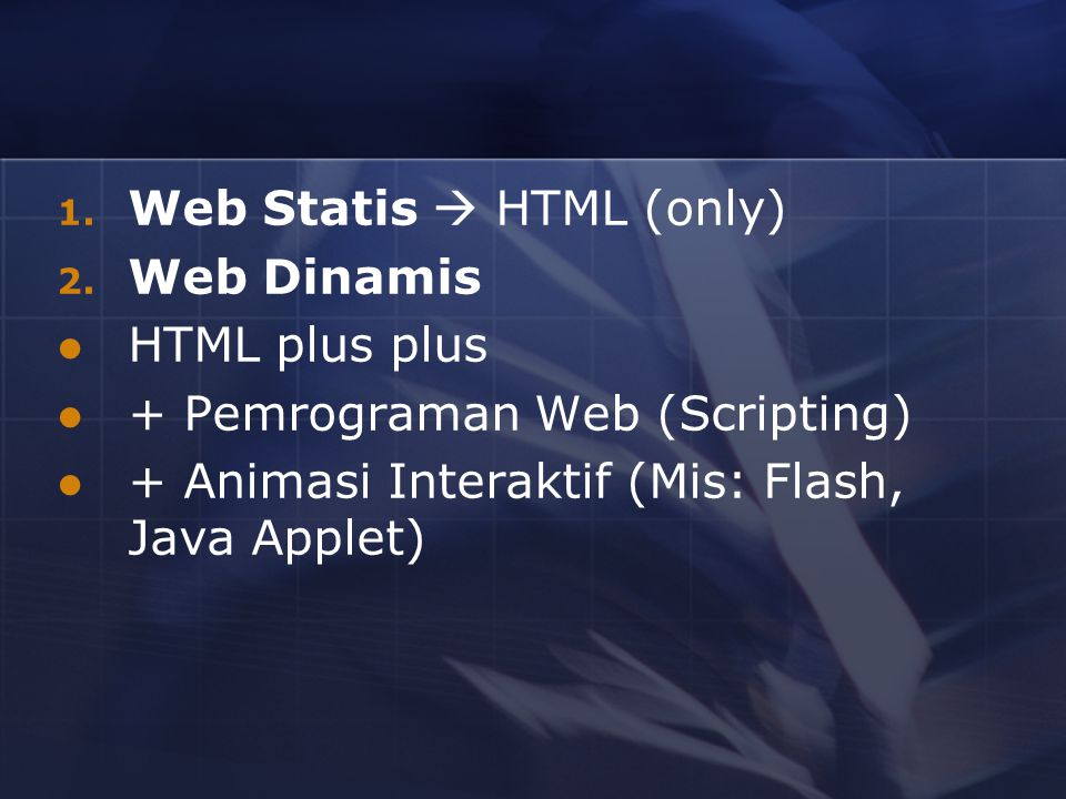 Web Statis  HTML (only)