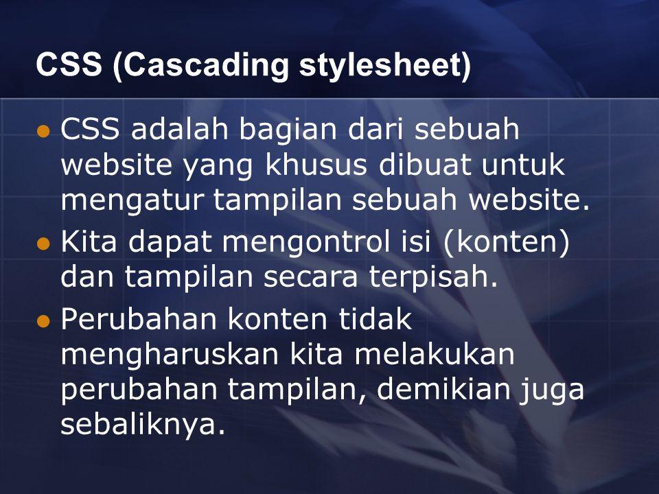 CSS (Cascading stylesheet)