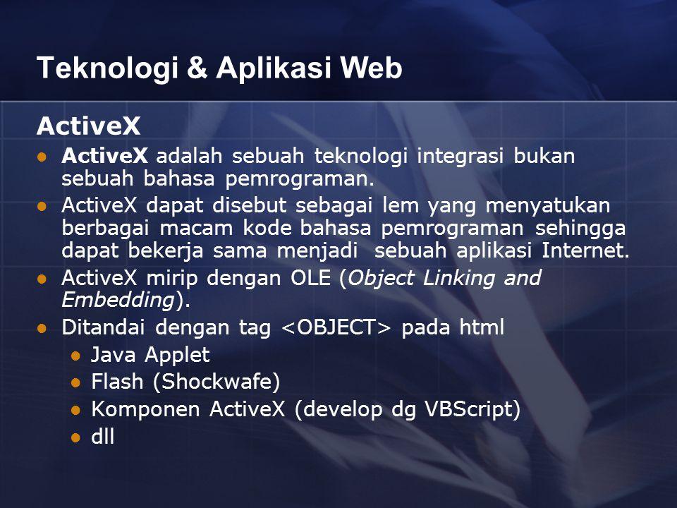 Teknologi & Aplikasi Web