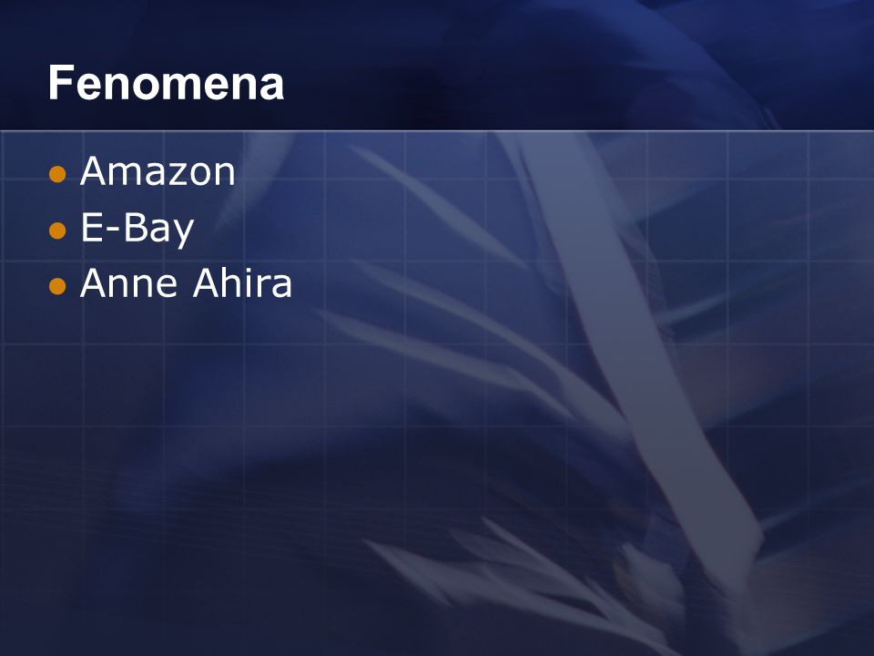 Fenomena Amazon E-Bay Anne Ahira