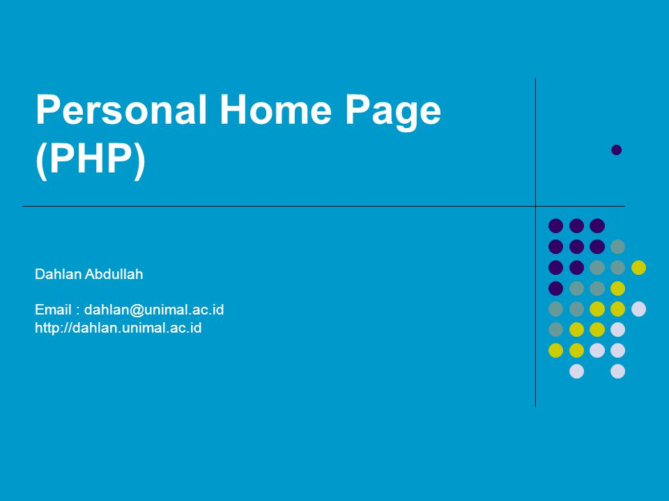 Personal Home Page (PHP)