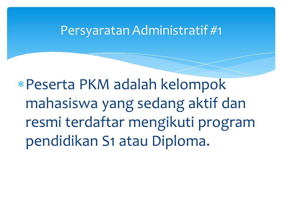 Persyaratan Administratif #1
