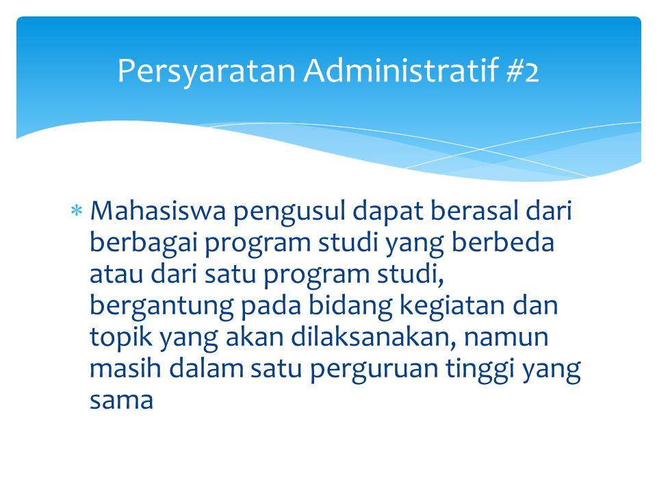 Persyaratan Administratif #2