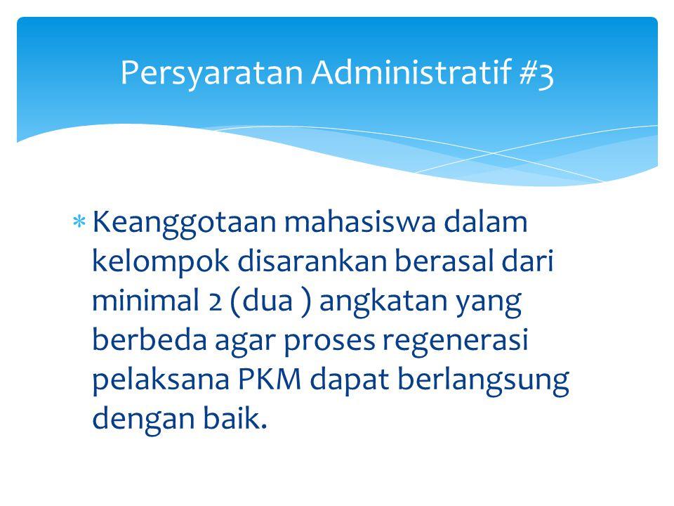 Persyaratan Administratif #3