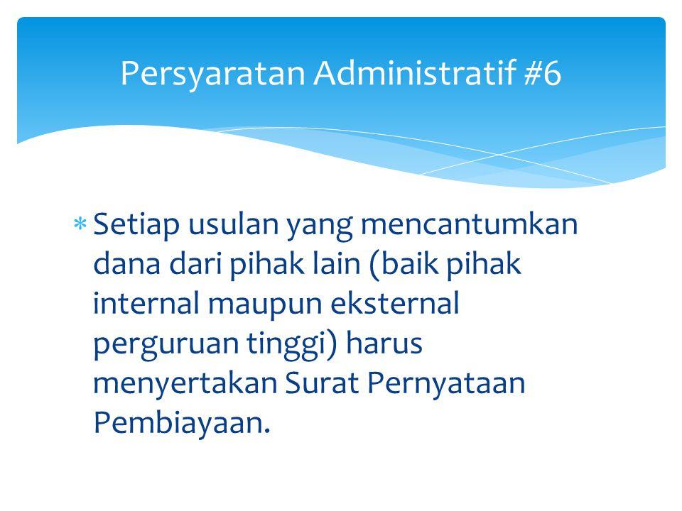 Persyaratan Administratif #6