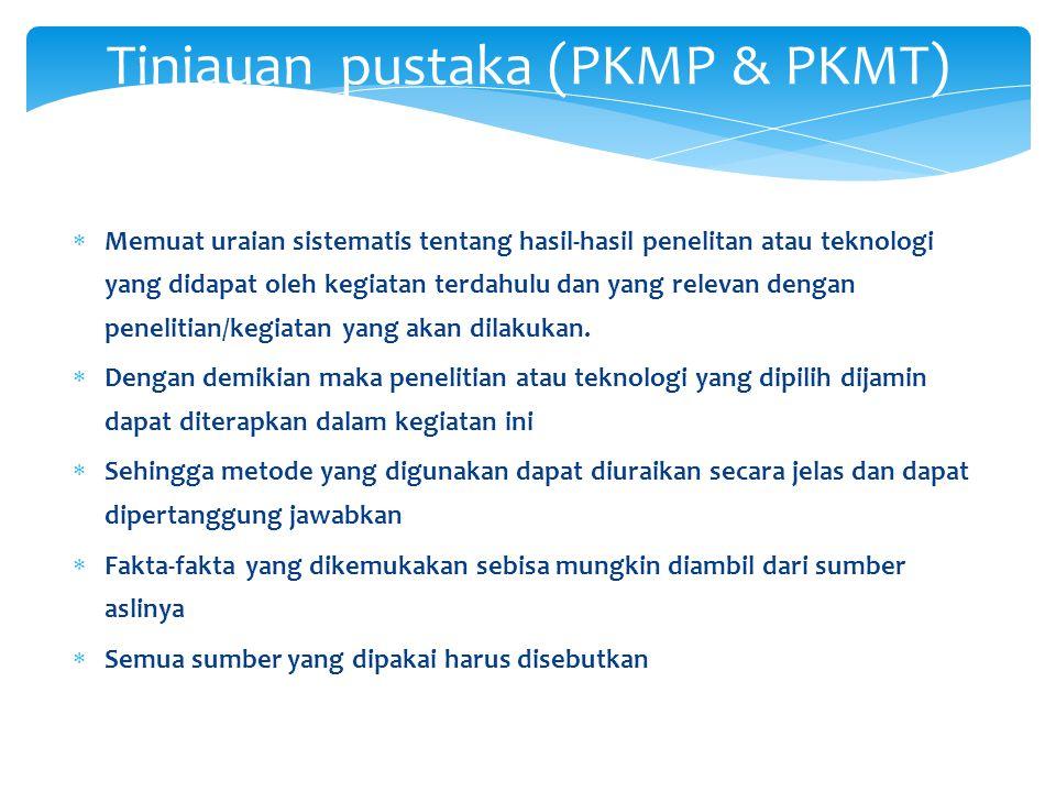 Tinjauan pustaka (PKMP & PKMT)