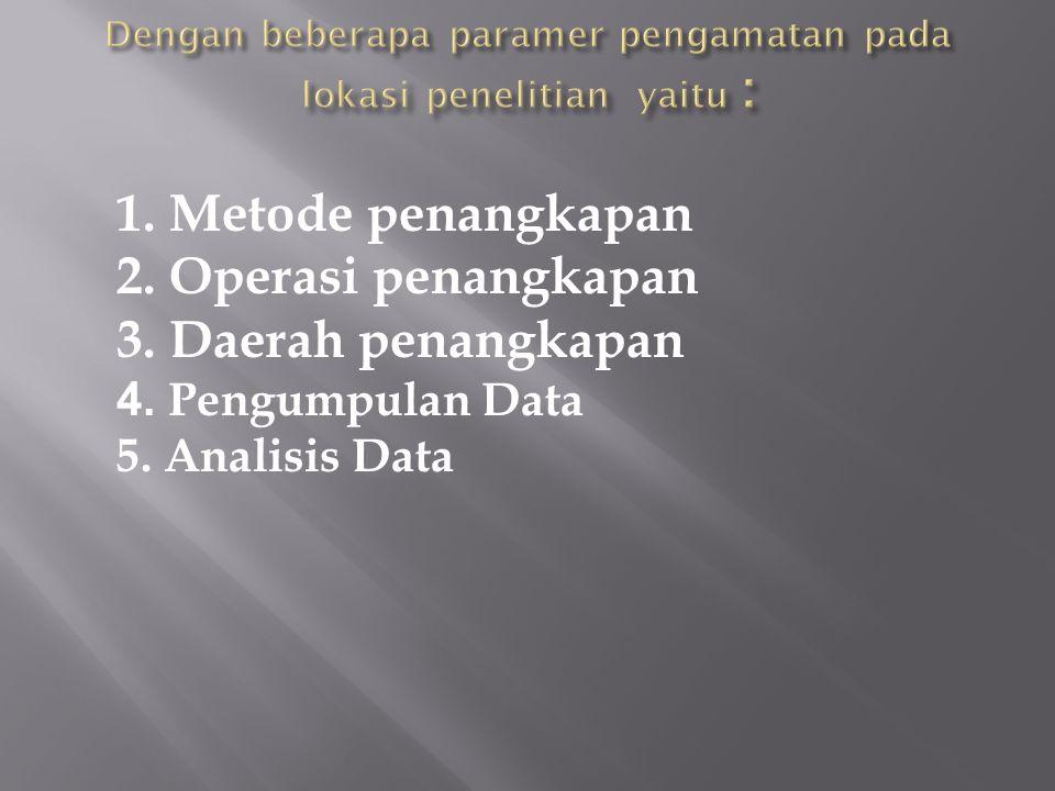 Dengan beberapa paramer pengamatan pada lokasi penelitian yaitu :