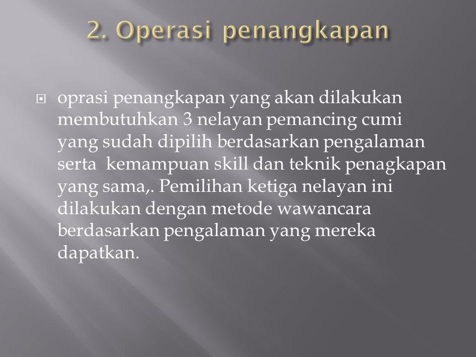 2. Operasi penangkapan