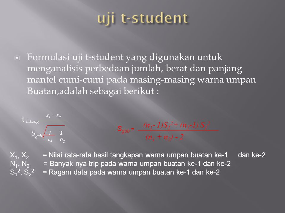 uji t-student
